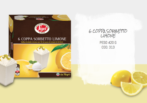 6 Coppa Sorbetto Limone