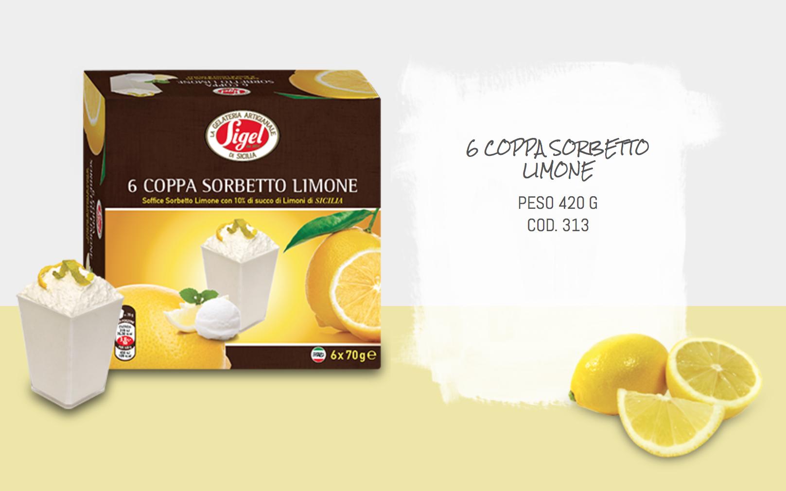 6 Coppa Sorbetto Limone