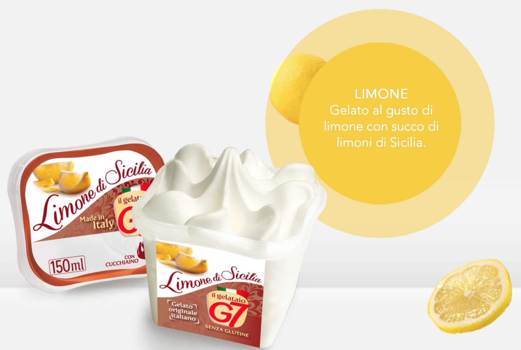 Gelato Limone In Monoporzione 80gr G7