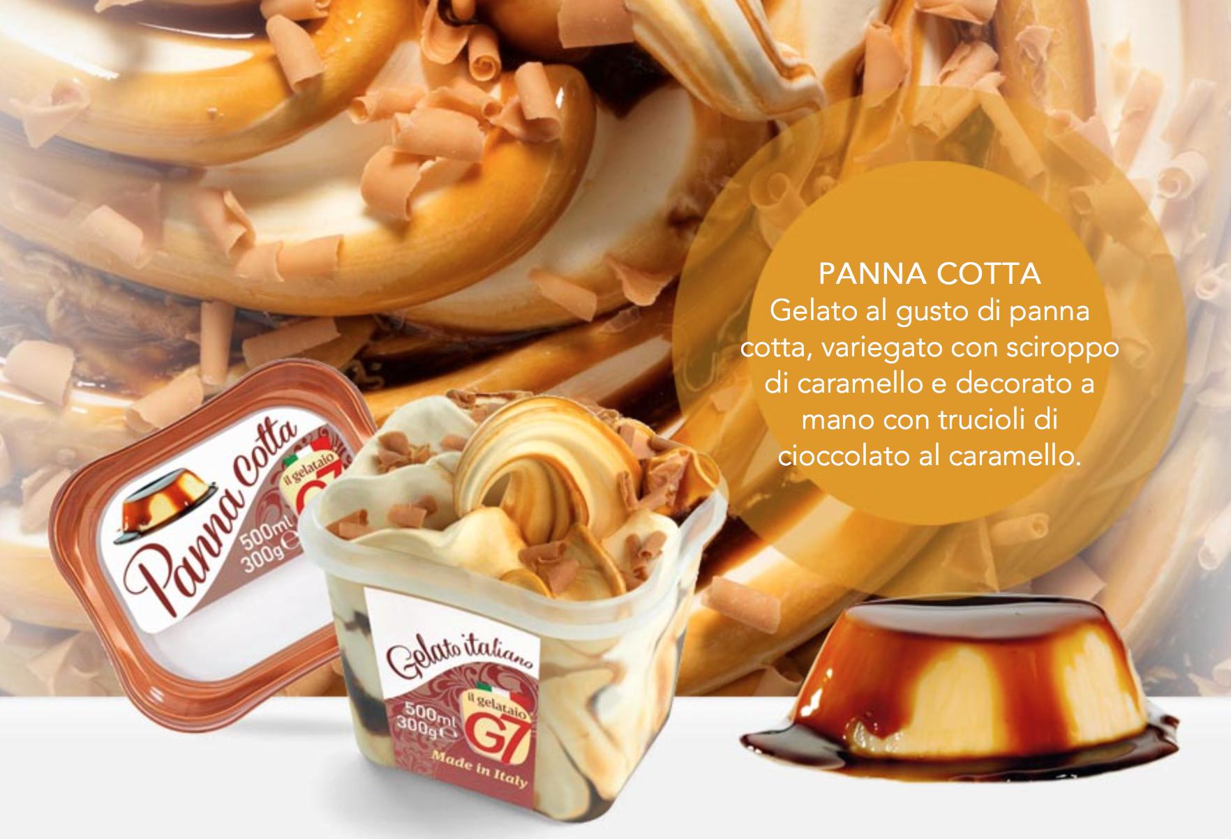 Gelato Panna Cotta In Vaschetta 300gr G7