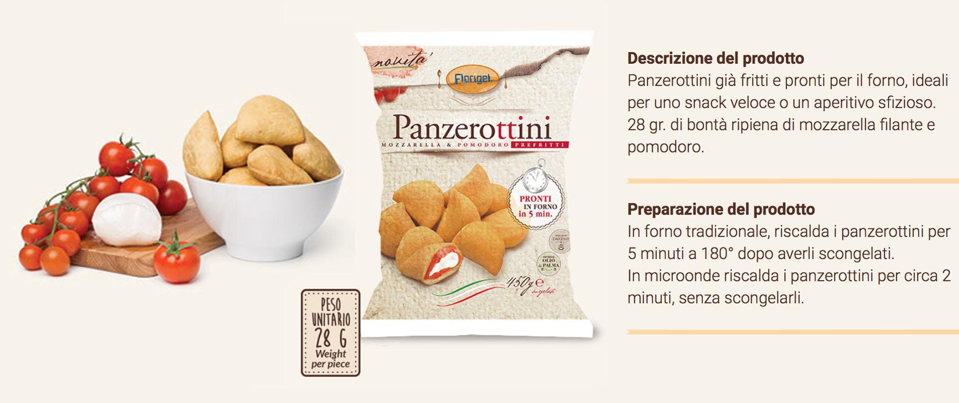 Panzerottini Pomodoro E Mozzarella Florigel