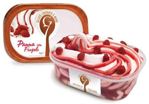 Gelato G7 1kg Panna Con Fragole