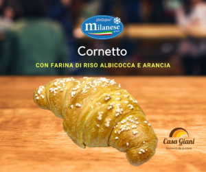 Cornetto Farina di Riso Albicocca e Arancia